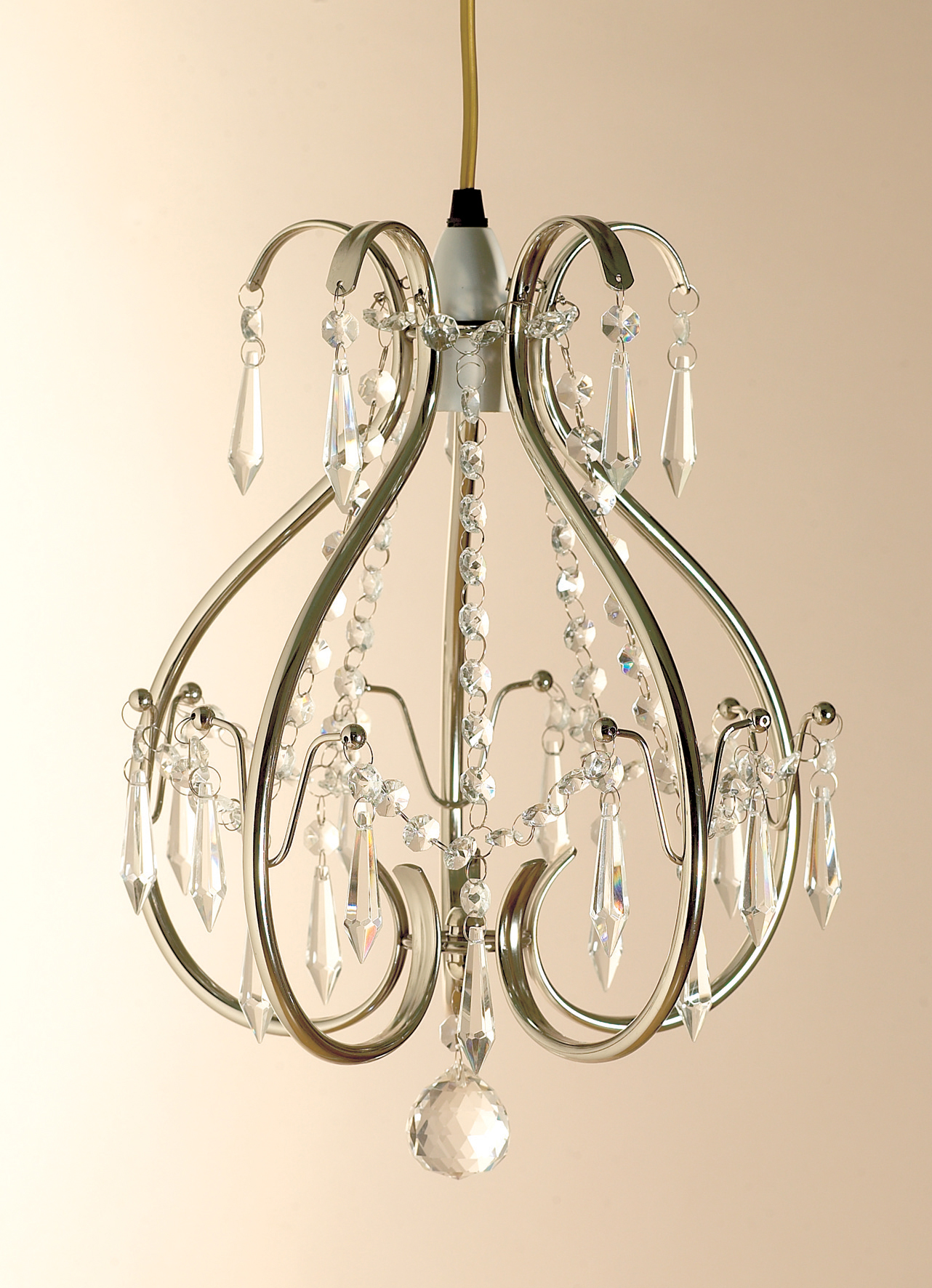 PAPAYA Crystal Mini Chandelier Lighting 1 Light Chrome Chandeliers Iron Ceiling Light Fixture