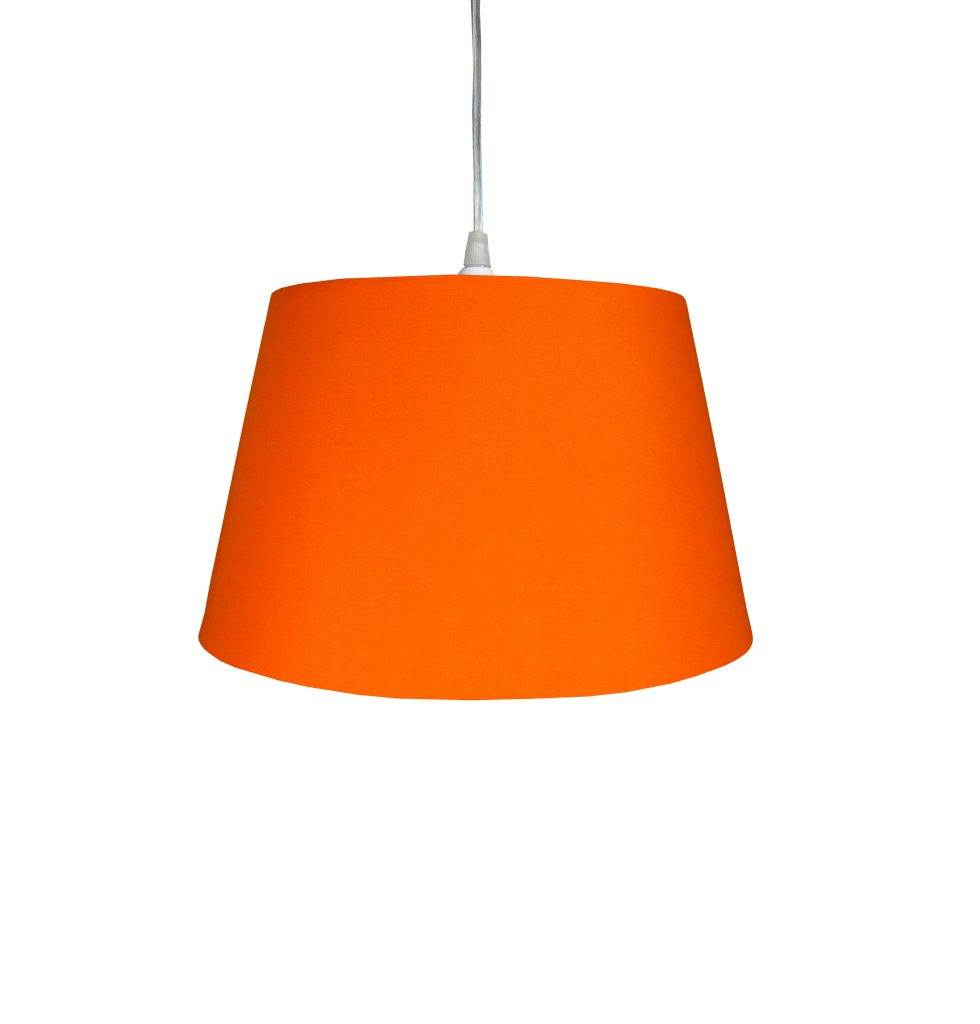 12 inch Drum Shade - Burnt Orange - Loxton Lighting