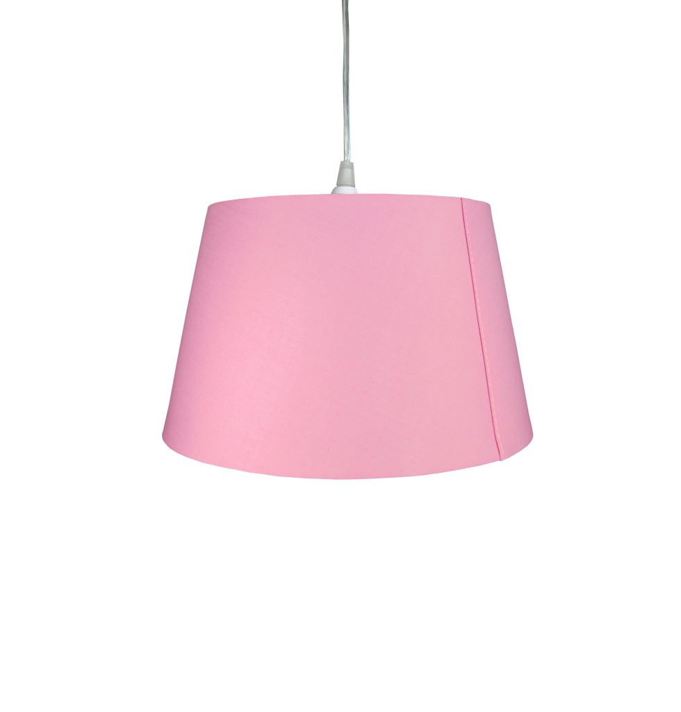 10 inch Drum Shade - Pink - Loxton Lighting
